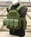 6094 Plate Carrier w/ 3 Pouches - OD